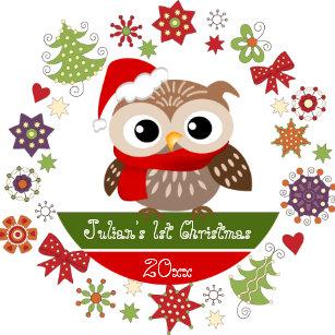 happy owl 1st christmas ornament - Owl Christmas