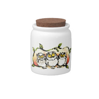 Happy owl brothers/the wax three sibling who is candy dish
