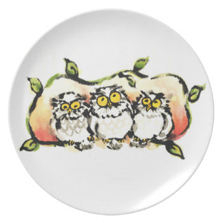 Happy owl brothers/the wax three sibling who is melamine plate