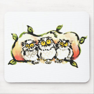 Happy owl brothers/the wax three sibling who is mouse pad