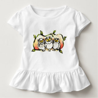 Happy owl brothers/the wax three sibling who is toddler t-shirt