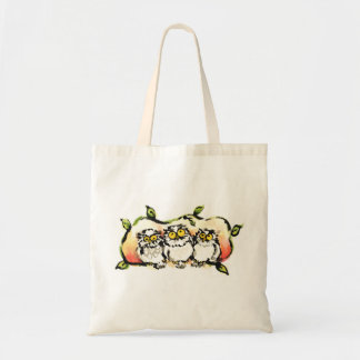 Happy owl brothers/the wax three sibling who is tote bag