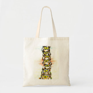 Happy owl family/the wax family which is wiped tote bag