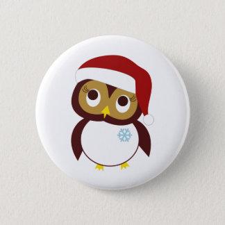 Happy Owl-idays Button