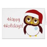 Happy Owl-idays Greeting Card