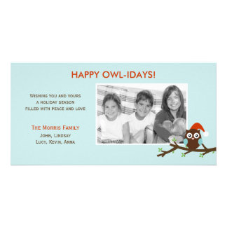 Happy Owl-idays! Holiday Photo Card