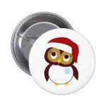 Happy Owl-idays Pinback Buttons