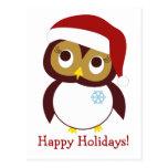 Happy Owl-idays Post Card