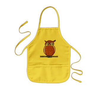 Happy owl kids' apron