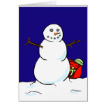 Happy Owl Makes a Snowman Cards