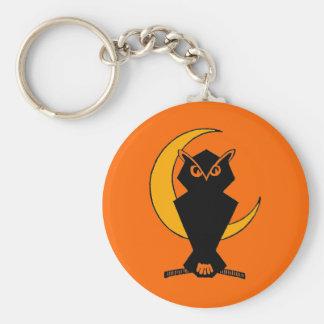 Happy Owl-o-ween! Basic Round Button Keychain