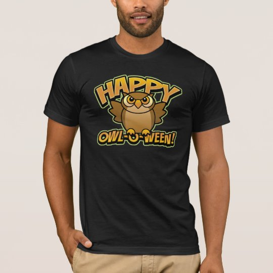 Happy Owl-O-Ween Dark T-Shirt