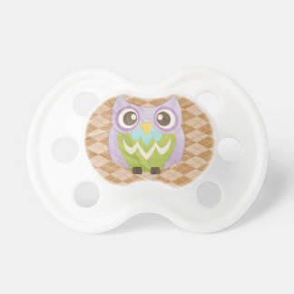 Happy Owl Baby Pacifiers