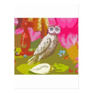 Happy Owl Postcard