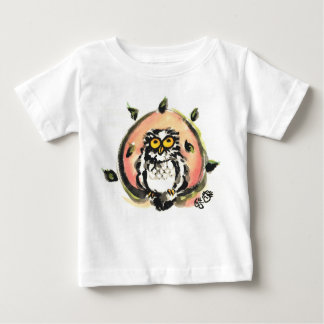 Happy owl/the wax which is wiped baby T-Shirt