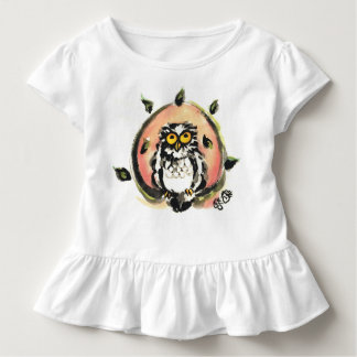 Happy owl/the wax which is wiped toddler t-shirt