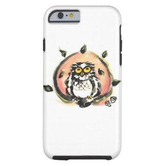 Happy owl/the wax which is wiped tough iPhone 6 case