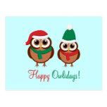 Happy Owlidays Postcard