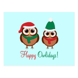 Happy Owlidays Postcard