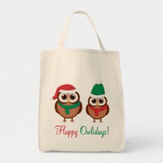 Happy Owlidays Tote Bag