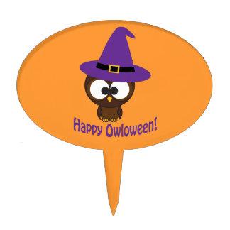 Happy Owloween Cake Topper