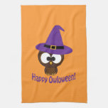 Happy Owloween Hand Towel