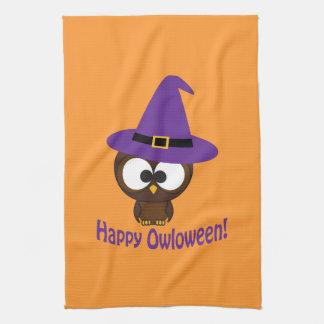 Happy Owloween Hand Towel