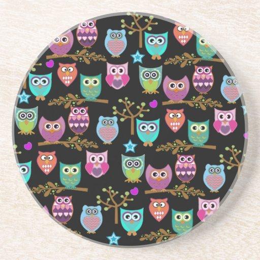 happy owls coaster