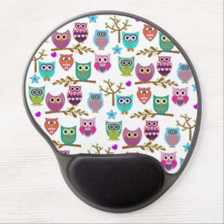 happy owls gel mouse pad