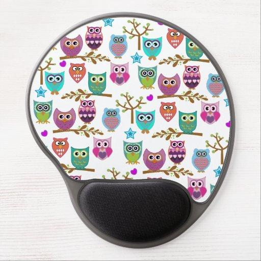 happy owls gel mousepads