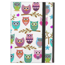 happy owls iPad air case