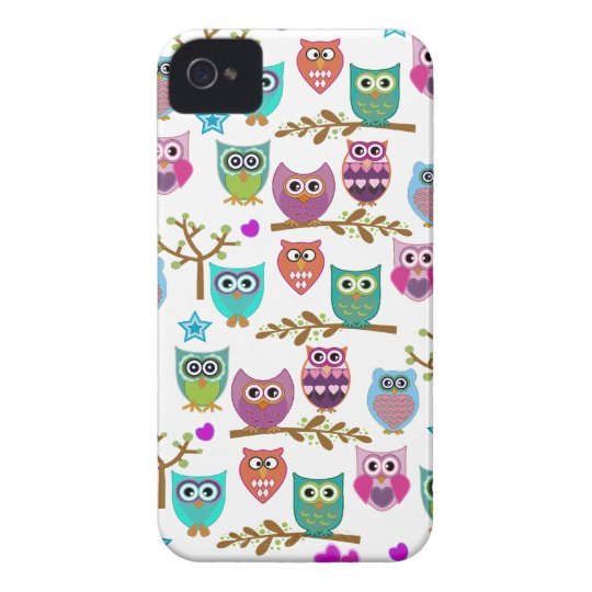 happy owls iPhone 4 Case-Mate case