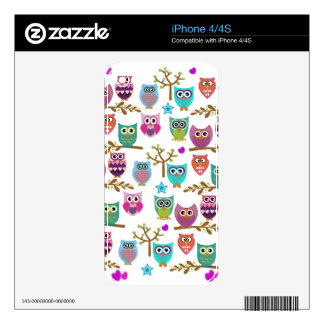 happy owls iPhone 4 skins