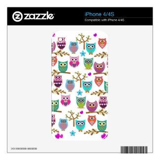 happy owls iPhone 4 skins