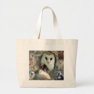 Happy Owls Large Tote Bag