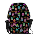 happy owls messenger bag