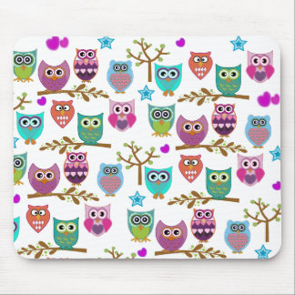 happy owls mouse pad