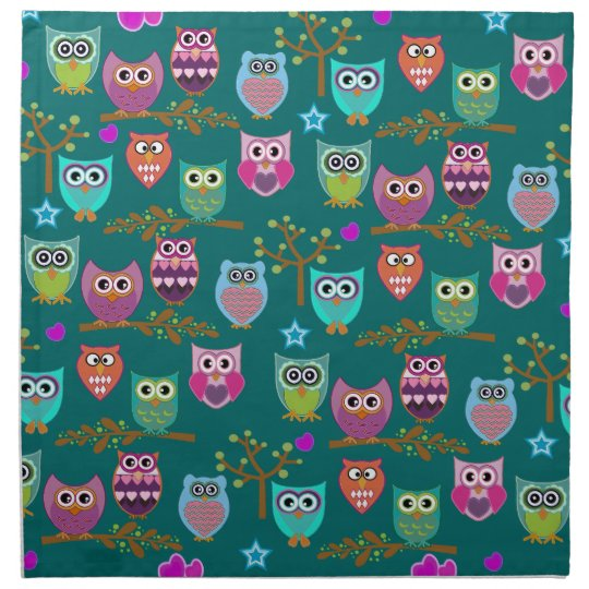 happy owls napkin