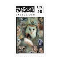 Happy Owls Postage
