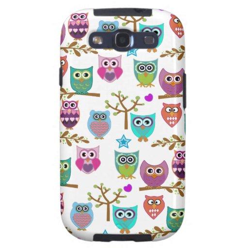 happy owls samsung galaxy SIII cases