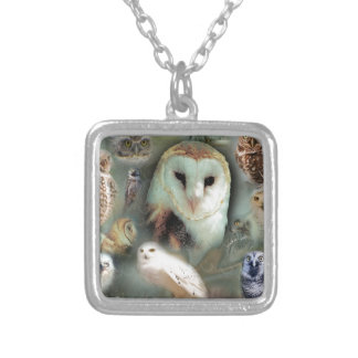 Happy Owls Silver Plated Necklace
