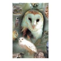 Happy Owls Stationery