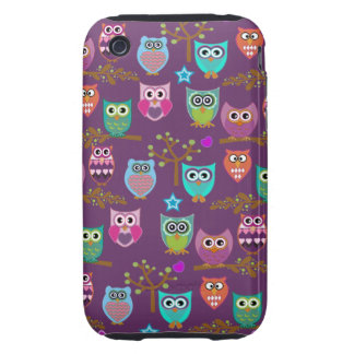 happy owls tough iPhone 3 covers