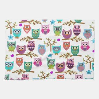 happy owls towels