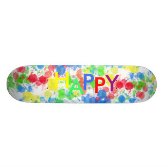 HAPPY paint splatter board