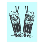 Happy Pair of Sodas Post Card