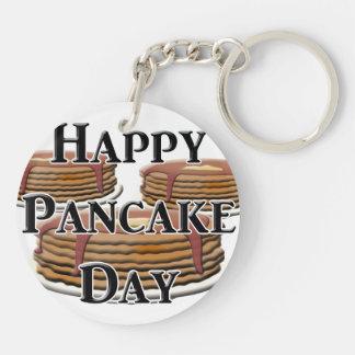 Happy Pancake Day Keychain