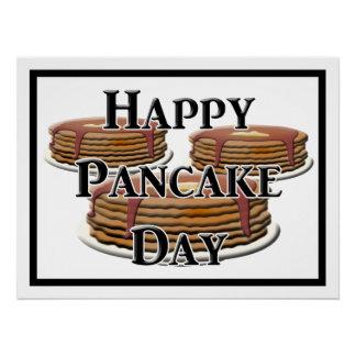 Happy Pancake Day Poster