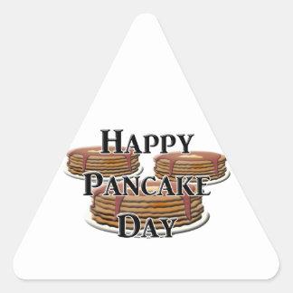 Happy Pancake Day Triangle Sticker
