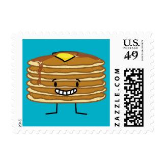 Happy Pancakes Pancake Stack Postage